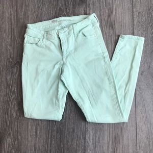 Old Navy Pastel Mint Green Mid Rise Skinny Jeans